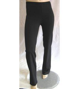 Straight Leg Cotton Lycra Jazz Pants Black