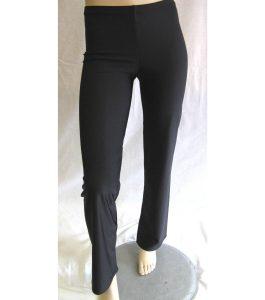 Straight Leg Nylon Lycra Jazz Pants Black