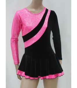 Jenetex Malaga Skating Dress Black & Pink front