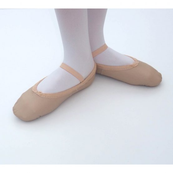 Pink Leather Ballet Shoes