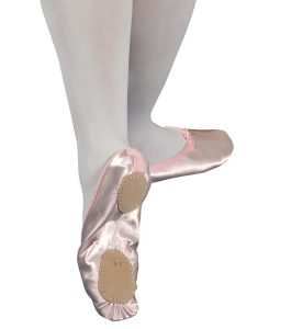 Split Soled Satin Ballet Shoes Pink