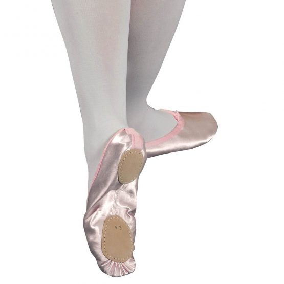 Split Soled Satin Ballet Shoes Pink