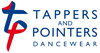 Tappers and Pointers Dancewear Logo Horiz Colour