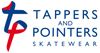 Tappers and Pointers Skatewear Logo Horiz Col