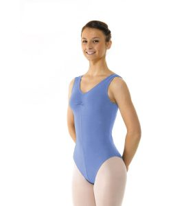 Sleeveless Leotard Ruched Front ISTD Sky