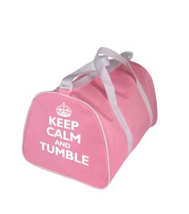 Gymnastic Holdall Keep Calm and Tumble Motif Pink