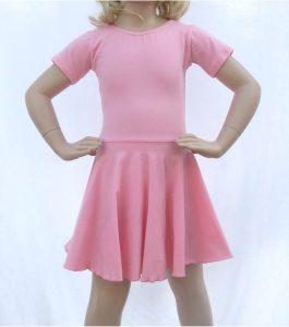 Jenetex Short Sleeve Dress Pale Pink front