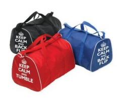 0fa762b1b2 Gym Holdall Bag with  Keep Calm and Back Flip  Motif - Dancewear ...
