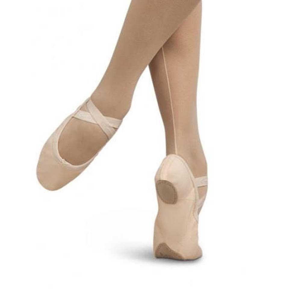 Capezio White Leather Split Sole Ballet Shoes