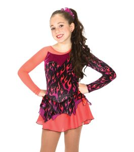 Jerrys 25 Girl on Fire Skating Dress front