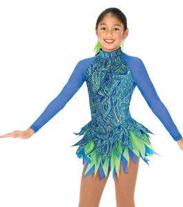 Jerrys 53 Bird of Paradise Skating Dress Blue front