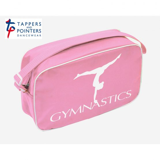 Pink Shoulder Bag with Gymnastics Logo