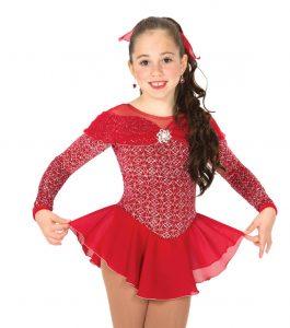 jerrys 41 Scarlet Slipper Skating Dress front