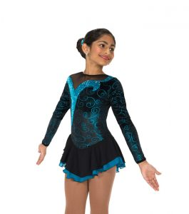 Jerrys 168 Turquoise Twizzle Skating Dress front