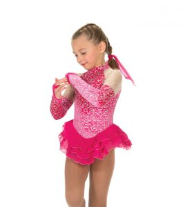 Jerrys 170 Fanciful Skating Dress Fire Pink Front
