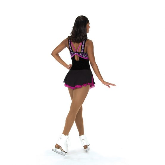 Jerrys 211 Nice at Night Skating Dress Black and Orchid Back