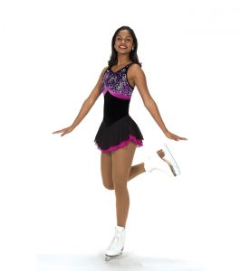 Jerrys 211 Nice at Night Skating Dress Black and Orchid Front