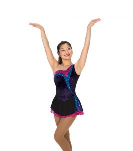 Jerrys 246 Stream of Sequins Skating Dress Black Front