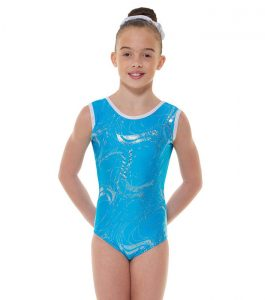 Tappers and Pointers GYM 35 Gymnastic Leotard Kingfisher and Silver