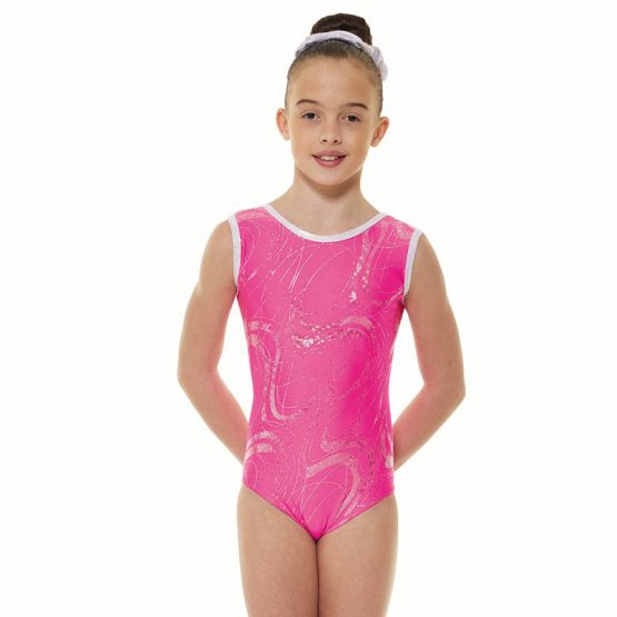 Tappers and Pointers GYM 35 Gymnastic Leotard Lipstick and Silver