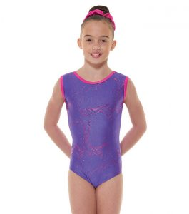 Tappers and Pointers GYM 35 Gymnastic Leotard Purple and Cerise