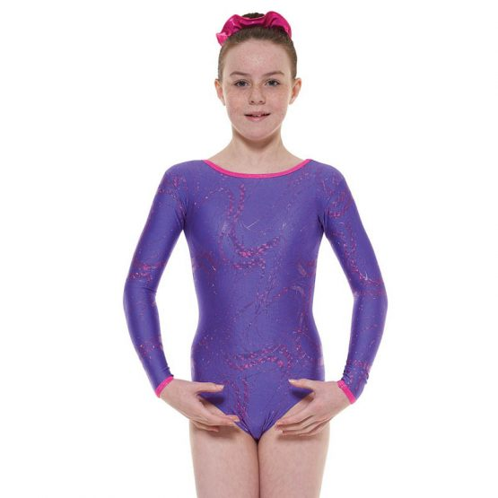 Tappers and Pointers GYM 36 Gymnastic Leotard Purple and Cerise
