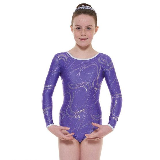 Tappers and Pointers GYM 36 Gymnastic Leotard Purple and Silver