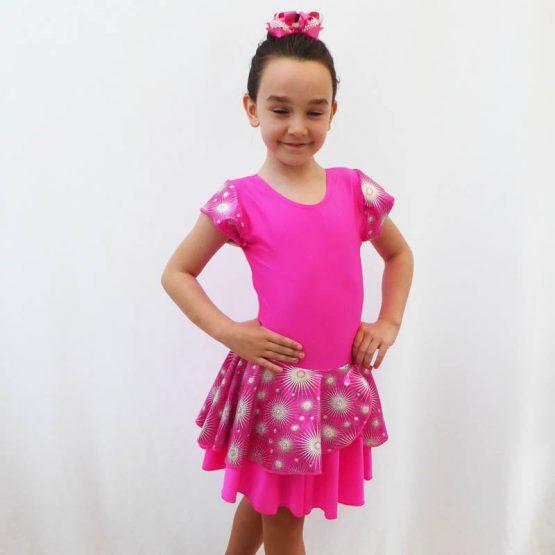 Jenetex Lipstick Pink Jodie Dress