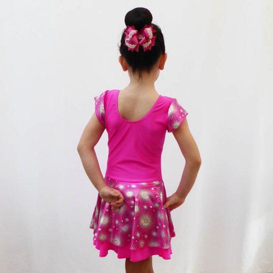 Jenetex Lipstick Pink Jodie Dress back