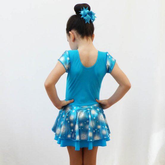 jenetex turquoise jodie dress back