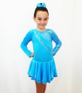 Malaga-turquoise-long-sleeve-skating-dress