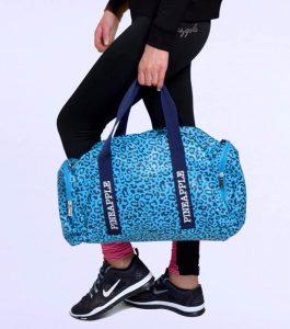 Pineapple Blue Leopard Dance Bag