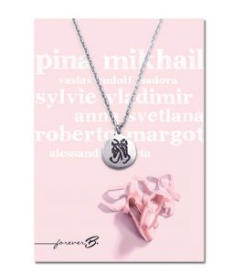 Pointe Shoe Necklace with Gift Card
