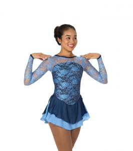 Jerrys 117 Lake of Lace Skating Dress Blue Front