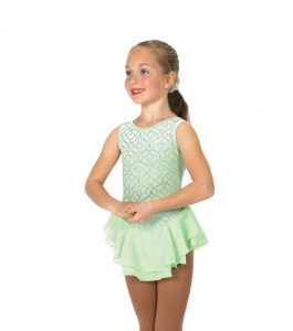 Jerrys 20 Silver Set Skating Dress Ice Lime Front