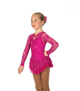 Jerrys 33 Love & Lace Skating Dress Fuchsia Front