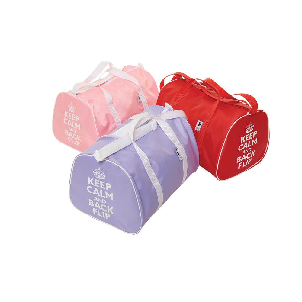 299f95b00fee Gym Holdall Bag with  Keep Calm and Back Flip  Motif - Dancewear ...
