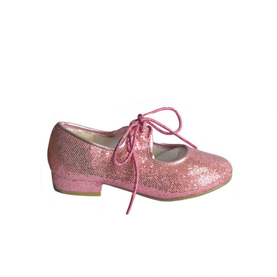 Pink Glitter Tap Shoes