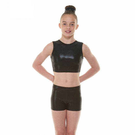 Tappers & Pointers Ebony Crop Top and Shorts