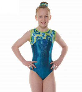 Tappers & Pointers GYM 52 Blue and Yellow Gymnastic Leotard