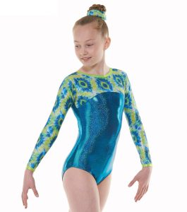 Tappers & Pointers GYM 53 Blue and Yellow Gymnastic Leotard