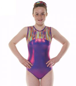 Tappers & Pointers GYM 54 Purple and Rainbow Gymnastic Leotard
