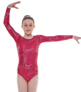 Tappers & Pointers Gym 36 Mulberry Long Sleeve Gymnastic Leotard