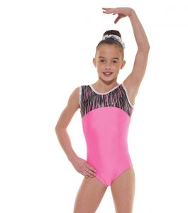 Tappers & Pointers Gym 45 Fluorescent Pink Gymnastic Leotard