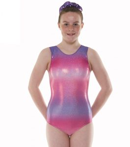 Tappers & Pointers Gym 47 Ombre Pink Purple Gymnastic Leotard