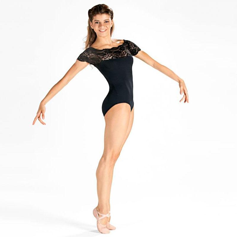 Lace Top Dance Leotard - Dancewear Universe 04e50c763