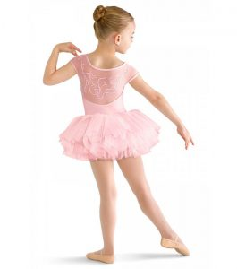 Bloch CL8142 Cap Sleeve Tutu Candy Pink back