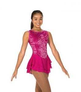 Deep Pink Sweep of Sequins Dress
