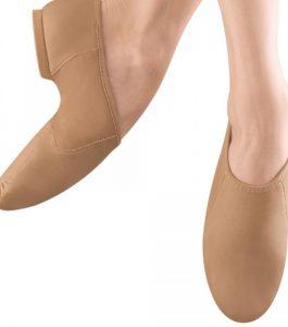 Bloch Tan Leather Split Sole Jazz Shoe