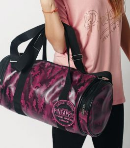 Pineapple Barrel Dance Bag Black and Cerise